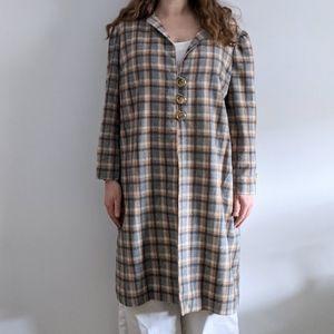 Vintage 1950's Handmade Tweed Overcoat